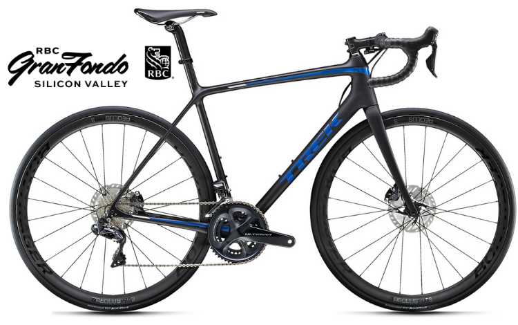 Road Bike Rental Trek Emonda SL7 Disc - RBC GranFondo Silicon Valley